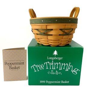 Longaberger 1999 Peppermint Tree Trimming Basket